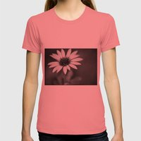 Flower Womens Fitted Tee Pomegranate SMALL