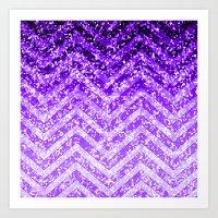 Zig Zag Sparkley Texture G229 Art Print