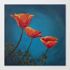 California Dreamin' - Orange Poppies  Canvas Print