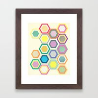 Honeycomb Layers II Framed Art Print