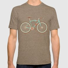 Bicycle Mens Fitted Tee Tri-Coffee SMALL