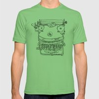 Typewriter Face Mens Fitted Tee Grass SMALL