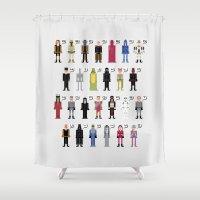 The Dark Side Alphabet Shower Curtain