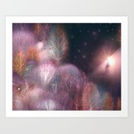 Art Print featuring Autumn Forest by Lisa Evans