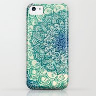 Emerald Doodle iPhone 5c Slim Case