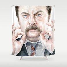Swanson Mustache Shower Curtain