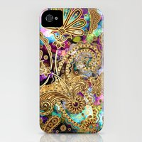 iPhone 4s & iPhone 4 Cases featuring Paisley Overdose by Joke Vermeer