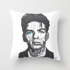 Ol' Blue Eyes Throw Pillow