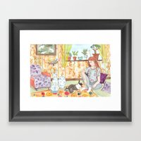Dutch and Red Framed Art Print