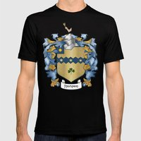 Thompson Crest and Tartan Mens Fitted Tee Black SMALL