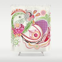Spring tangle Shower Curtain