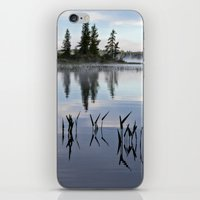 trees and weeds reflected iPhone & iPod Skin