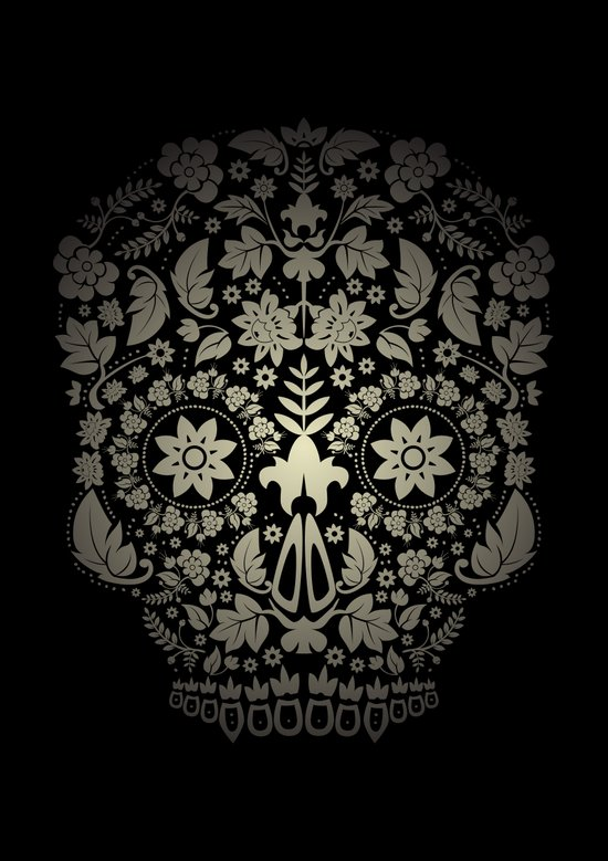 Day of the Dead Skull No.16 Art Print
