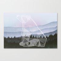 Geometric Nature - Bear (Full) Canvas Print