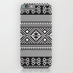 Monochrome Aztec inspired geometric pattern iPhone 6 Slim Case