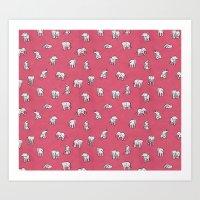 Indian Baby Elephants In… Art Print