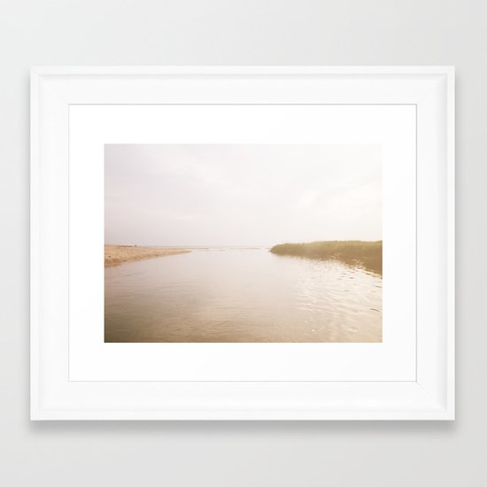 Coastal Opposites Framed Art Print