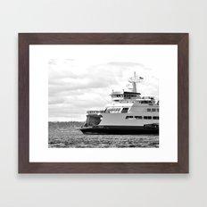 Pacific Northwest Ferry Framed Art Print