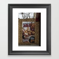Untitled, Bites Framed Art Print
