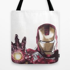Iron Man Pen Drawing Tote Bag