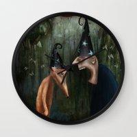 Trouble At The Magic Sho… Wall Clock