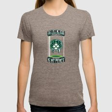 The Last Metroid Womens Fitted Tee Tri-Coffee SMALL