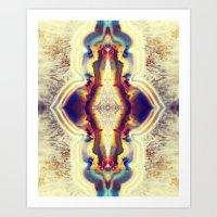 Petrified Flower Art Print