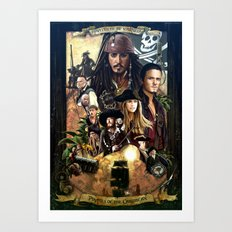 Pirates of the Carobbean Poster Art Print