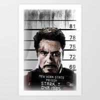 Tony Stark Jailed Art Print