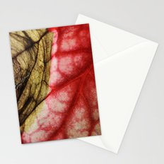 Decaying Begonia Rex Leaf Stationery Cards