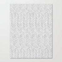 Freeform Arrows in gray Canvas Print
