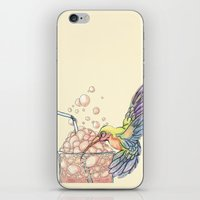 Floating Bubbles iPhone & iPod Skin