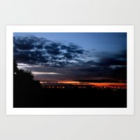 Dramatic Clouds Art Print