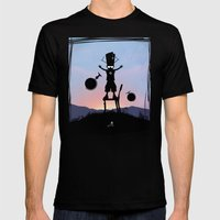 Galactu S Kid Mens Fitted Tee Black SMALL