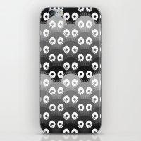 susuwatari pattern iPhone & iPod Skin