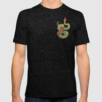 Snake Mens Fitted Tee Tri-Black SMALL