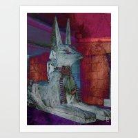 Altered Egyptian Art Print