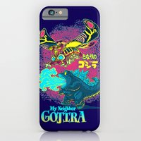 iPhone Cases featuring MY NEIGHBOR GOJIRA by BeastWreck
