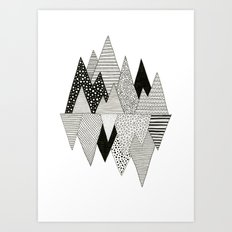 Lost in Mountains Art Print