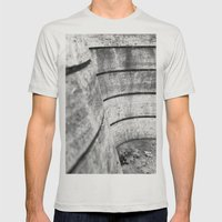 Leaving leaves Mens Fitted Tee Silver SMALL