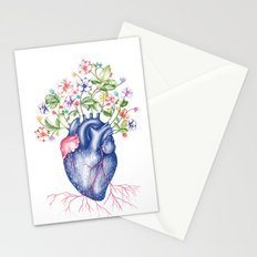 Strawberry Heart  Stationery Cards