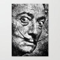 Dali's Eyes B&W Canvas Print
