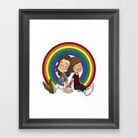 Rainbow Pals Framed Art Print