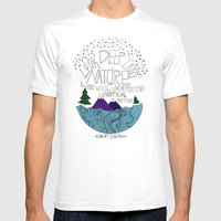 Einstein: Nature II Mens Fitted Tee White SMALL