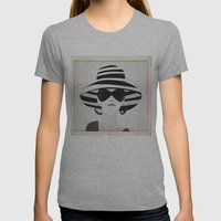 Snapshot (black & white) Womens Fitted Tee Athletic Grey SMALL