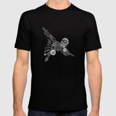 Hippie Bird SMALL Mens Fitted Tee Black