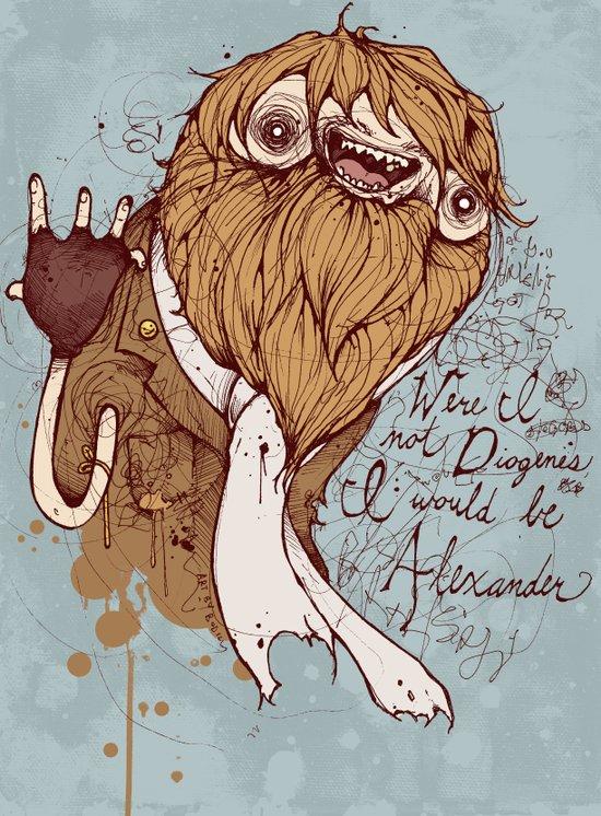 Were I not Diogenes Canvas Print