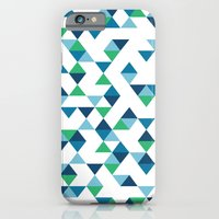 Triangles Blue and Green iPhone 6 Slim Case
