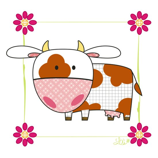 Little cow Art Print