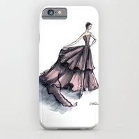 iPhone & iPod Case featuring Audrey Hepburn in Pink by Notsniw